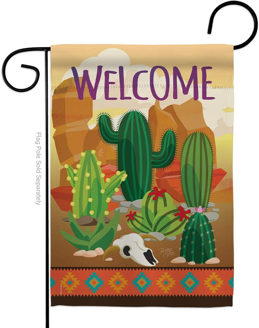 Southwest Cactus Garden Flag Regional Desert Country Succulent Particular Area Small Decorative Gift Yard House Banner Made in USA 13 X 18.5