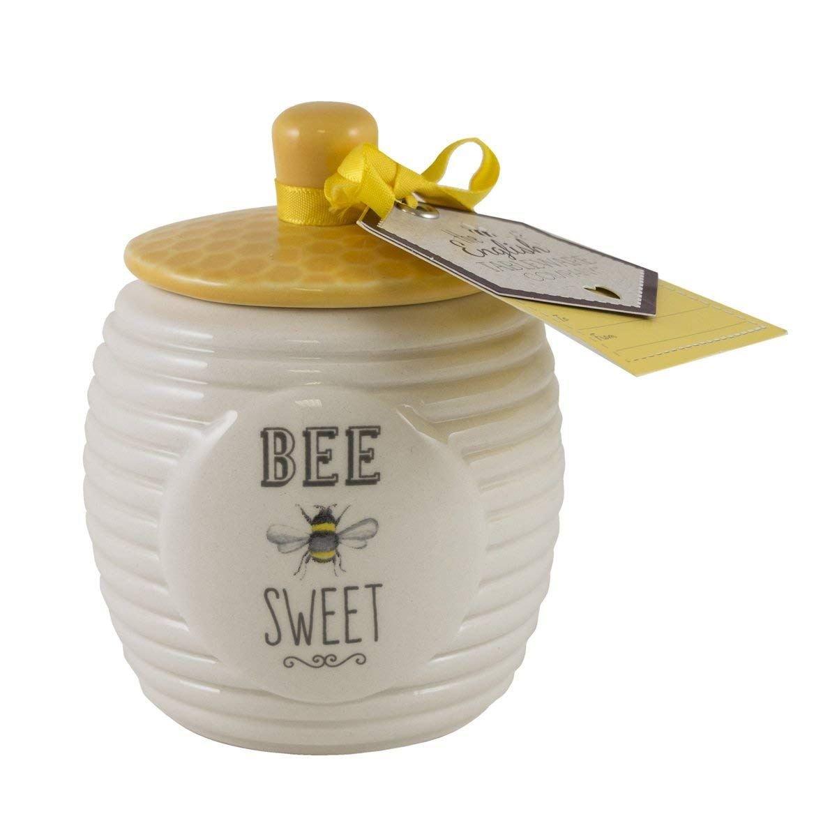 English Tableware Company Bee Happy Bee Sweet Sugar Pot David Mason Design