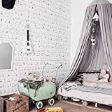 Bigger Bed Than a King Size Mosquito Net Canopy, Didihou Round Lace Dome Bed Canopy Netting Princess Mosquito Net Bonus Hanging Decorations for Baby Kids Reading Play Indoor Games House (Grey)