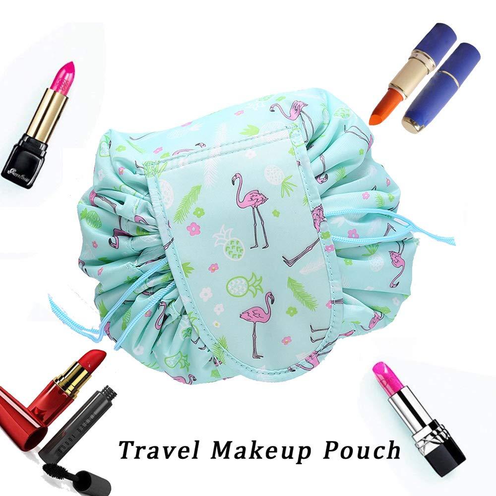 Faule Make-up Tasche Kordelzug Tragbare Quick Pack Reise-Make-up-Etui Fall Multifunktionale wasserdichte Kulturbeutel Make-up Pinsel Aufbewahrungs-Organizer (C) XDODD