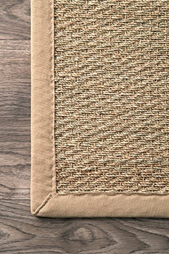 "nuLOOM Elijah Seagrass Natural Runner Rug, 2' 6"" x 8', Beige - Made in China PREMIUM NATURAL FIBERS: This rug is crafted with sustainable 100% Seagrass, a fiber that perfects a coastal-cool look SLEEK LOOK: Doesn't obstruct doorways and brings elegance to any space - runner-rugs, entryway-furniture-decor, entryway-laundry-room - 61TQAIfgQQL -"