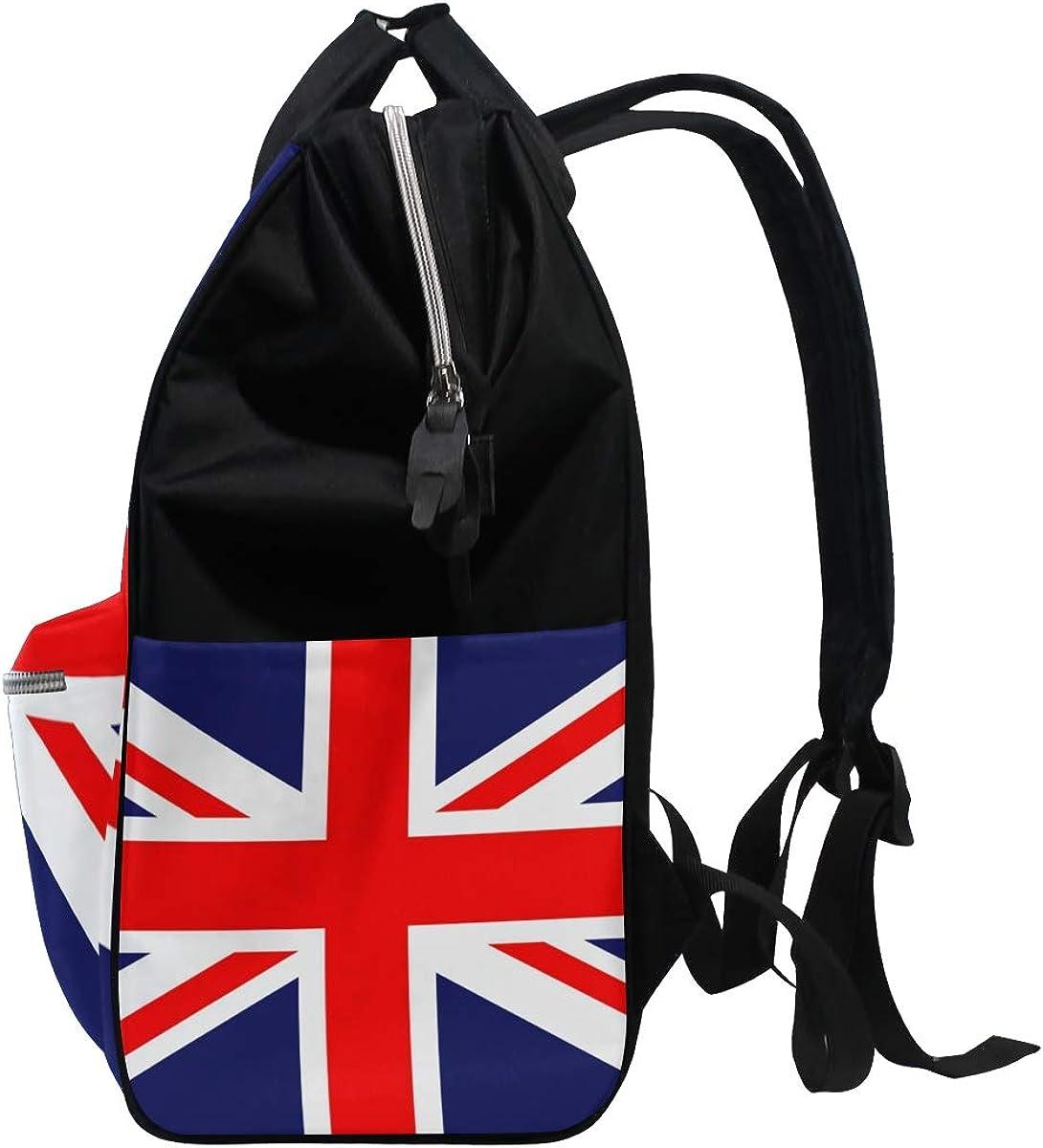 imobaby Union Jack Flag Changing Bags Large Capacity Handbags Canvas Shoulder Bag Backpack