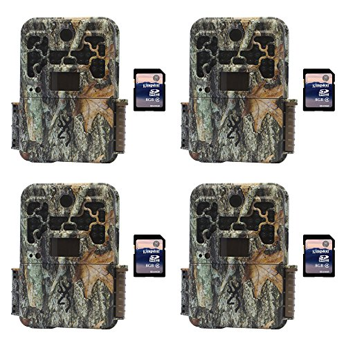 Browning Trail Cameras Recon Force Platinum 10MP Game Camera, 4 Pack + SD Cards