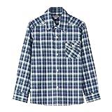 Bienzoe Boy's Warm Flannel Button Down Long Sleeve Plaid Shirt Green 9/10