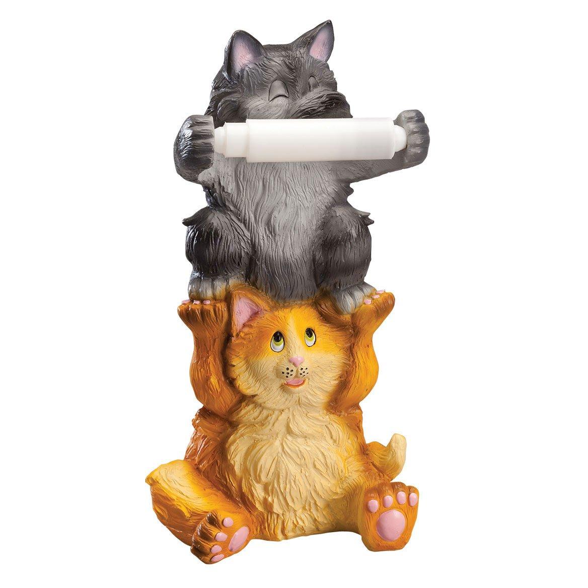 Miles Kimball Colorful Kittens Toilet Paper Holder by OakRidgeTM