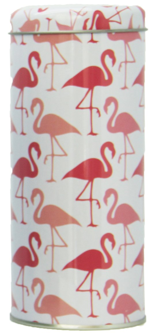 Bada Bing Caja de metal para café Tarro redondo Flamingo ...