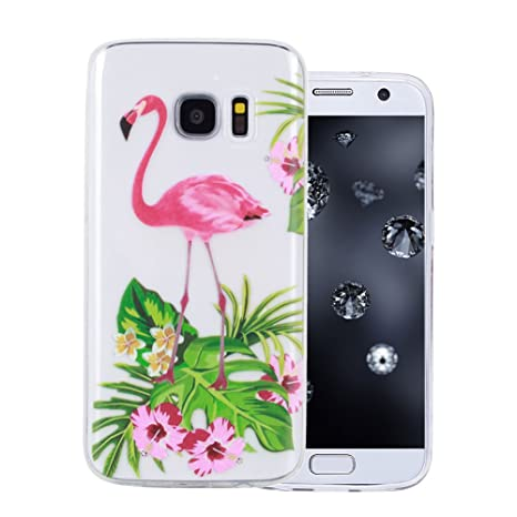 coque samsung galaxy s7 flamant rose