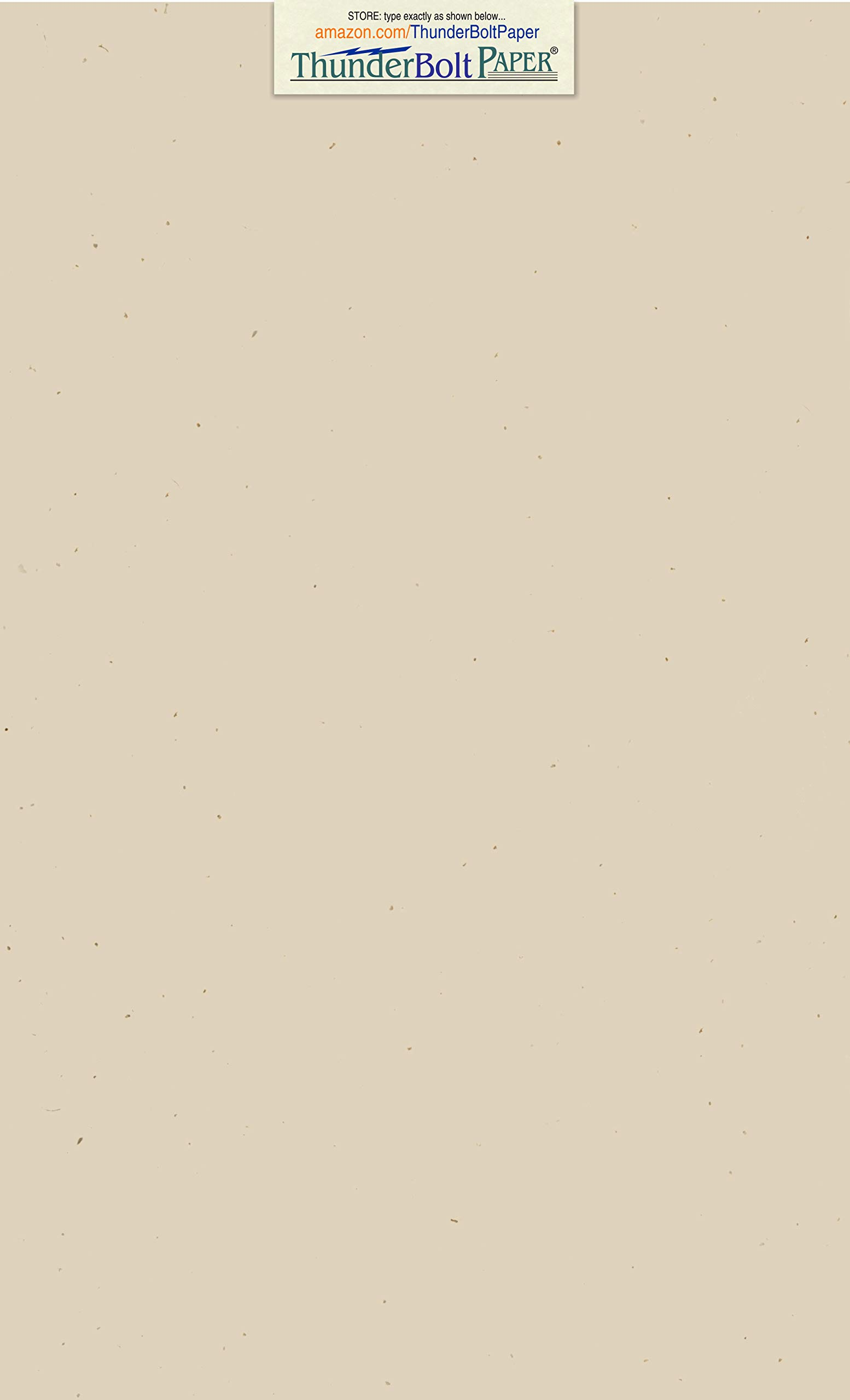 100 Earthy Driftwood Tan Fiber 80# Cover Paper Sheets - 8.5'' X 14'' (8.5X14 Inches) Legal|Menu Size - Light Tan Color with Natural Fibers - Smooth Finish