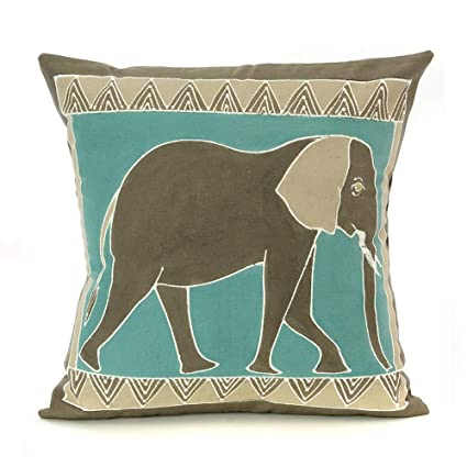 Amazon.com: Swahili - Almohada moderna pintada a mano ...