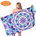 Microfiber Round Beach Towel Blanket-2019 New Antibacterial Thick Digital Printing High Colour Fastness Super Water Absorbent Beach Towel 62 Inches Yoga Mat Gift Idea