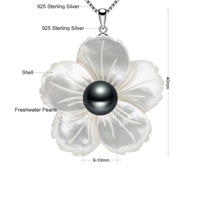 CS-DB Pendants Pearl Fashion Jewelry Silver Necklaces