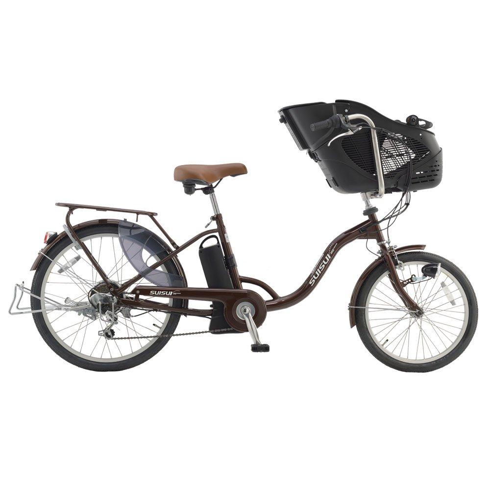 SUISUI 20/24インチ 電動アシスト自転車 チャイルドシートモデル KH-DCY07 ブラウン B00KICW4NQ
