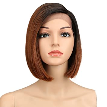Eliza Short Bob Wigs L Part Lace Front Wigs with Baby Hair Heat Resistant Synthetic Wigs