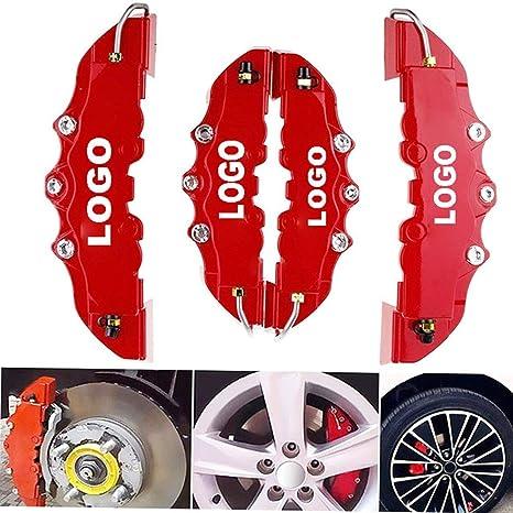 MOCRIS 4PCS Coperchio Pinza Freno a Disco auto 3D World Coperchio Freno Rosso Misura per 14-18 Pollici Car 2 M e 2 S Kit Universale per Brembo