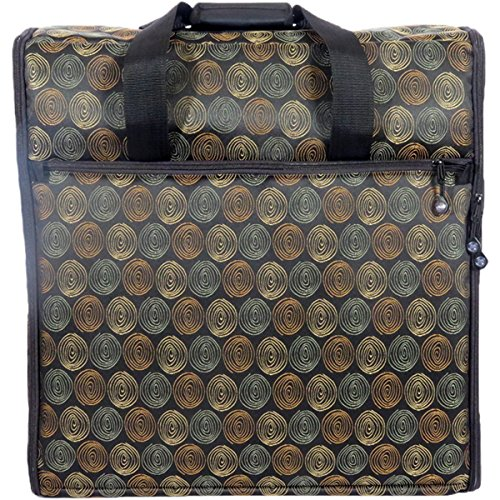 23 Embroidery Arm Bag 23x21x7-Julie – Black W/Spirals