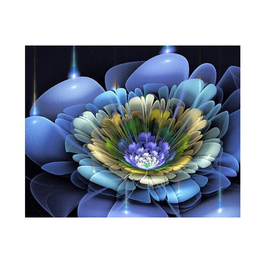 bismarckbeer Full Drill Lotus Flower 5D Diamond Painting Kits DIY Handmade Rhinestone Pasted Embroidery Cross Stitch Arts Craft