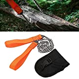 GreenWise ® 24-Inch Outdoor Camping Tactical Survival Pocket Chainsaw With Pouch | Portable Hand Saw Cuts Like A Knife | 3x Faster With Cutting Blade On Every Link,Bonus Front Snap Carrying Case