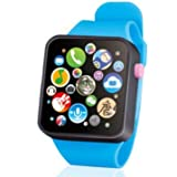 Cnlinkco Children Kids Fashion Music Touch Button Battery Watch (Blue)