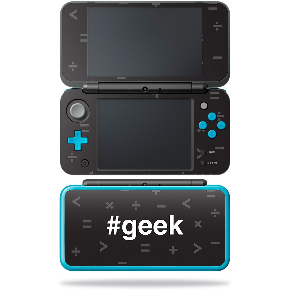 MightySkins Skin For New Nintendo 2DS XL - Geek | Protective, Durable, and Unique Vinyl Decal wrap cover | Easy To Apply, Remove, and Change Styles | Made in the USA