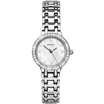 5b6e7d8688b4 Sekonda Women's Quartz Watch with Mother of Pearl Dial Analogue Display and  Silver Alloy Bracelet 4097.27: Sekonda: Amazon.co.uk: Watches