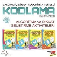Başlangıç Düzeyi Algoritma Temelli Kodlama Eğitim Seti (4 Kitap): Algoritma ve Dikkat Geliştirme Aktiviteleri