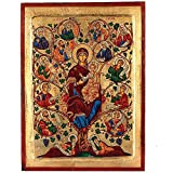 The Tree of Life- Mary (Vines Old Testament) Greek Painted Icon