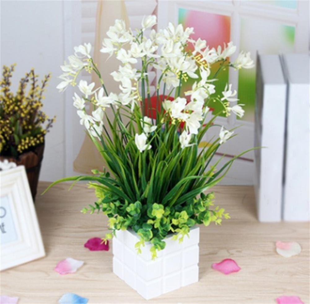 wei Flor de Simulación, Maleta Interior Salón Dormitorio Mesa de plástico Falsas Flores, macetas Decorativas Flores, Muebles