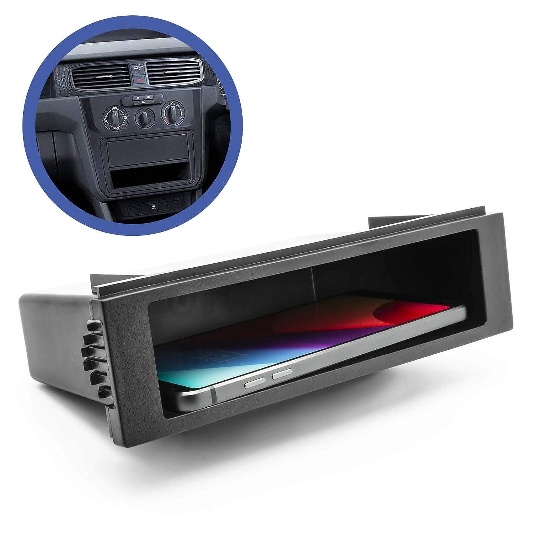 Auto Auto Radio universale 1 DIN Vano portaoggetti Alloggiamento cornice Pannello cieco Schacht Adapter-Universe 1165
