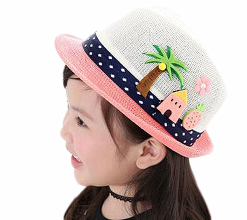 Chytaii Sombrero para el Sol de Ni/ño//Ni/ña Sombrero al Aire Libre Sombrero del Verano Gorra de Protecci/ón Solar Playa de Nataci/ón Viajes Sombrero Arco Anti-UV Sombrero de Malla de Paja