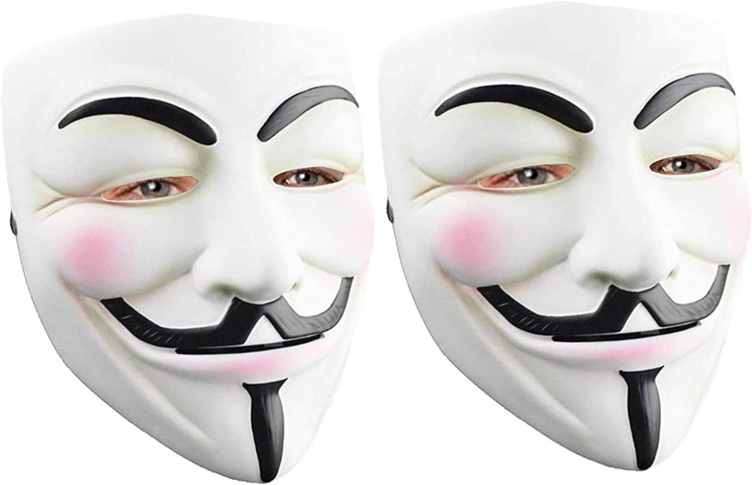 2pk V For Vendetta Movie Costume Mask Guy Fawkes Anonymous Halloween Cosplay