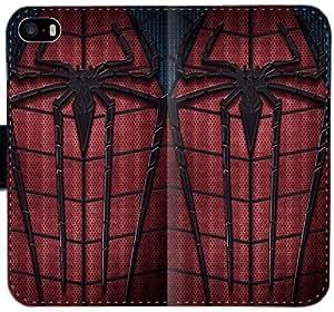 La cartera de cuero del caso funda 3367a6 KOVET cubiertas del teléfono hombre araña asombroso Funda iPhone 4 4S E1T1P