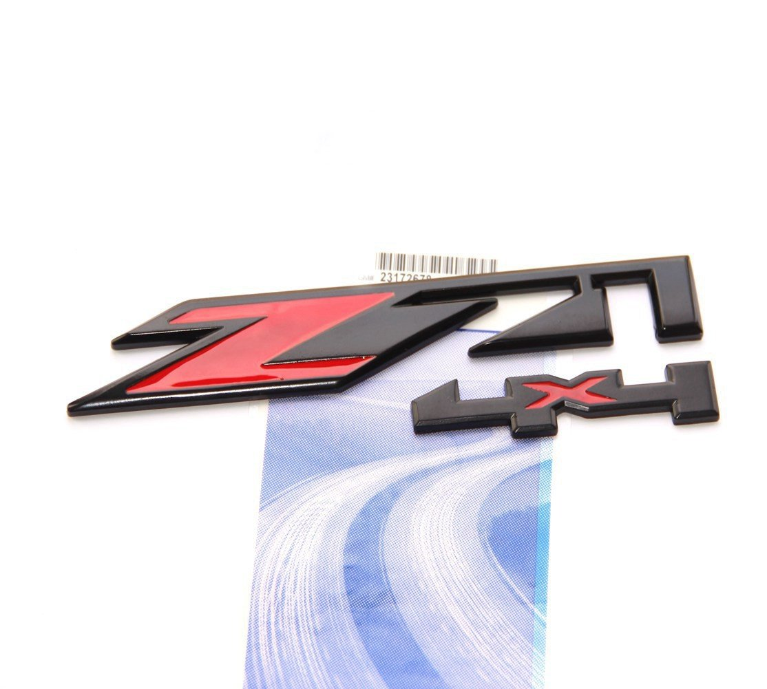 Yoaoo/® 3x OEM Black Red Z71 4x4 Emblems Badge for GMC Chevy Silverado Sierra Tahoe Suburban 1500 2500hd 3500hd Decal 3D
