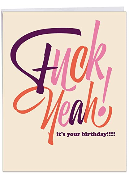 Amazon J6405BDG Jumbo Hysterical Birthday Greeting Card Eff