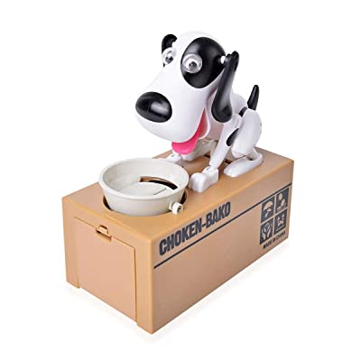Shop LC Delivering Joy Money Coin Piggy Bank White Black Dog Party Favor Gifts: Home & Kitchen