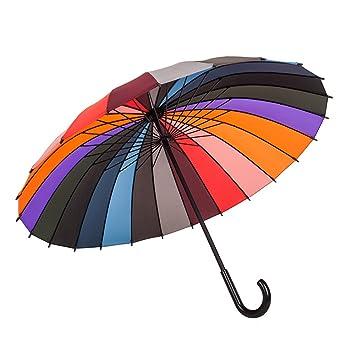 LWFB Paraguas / 24 costillas a prueba de viento / manija larga / automática abierta /