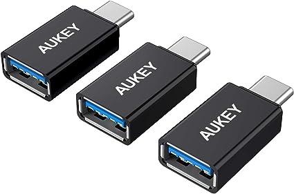 AUKEY Adaptador USB C a USB 3.0 (3 Pack) con OTG para MacBook Pro ...