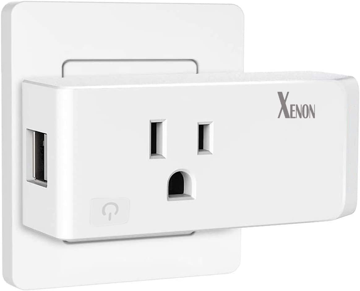 Xenon WiFi Smart Plug, With 2 USB Ports, Compatible with Alexa/Google Assistant, 10A Only Supports 2.4GHz Network, ETL Certificate, 1Pack - -