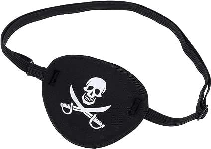 WINOMO Pirate Skull Crossbone Children Kids Eye Patch Eye Mask for Lazy Eye (Black)
