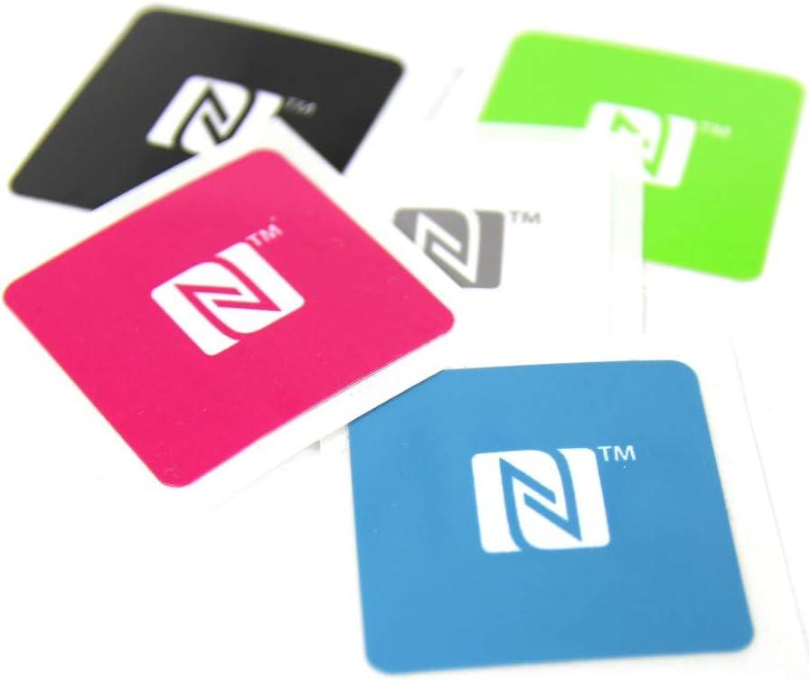 5 Nfc Sticker 25x25mm Ntag 213 180 Byte Nfc Logo Elektronik