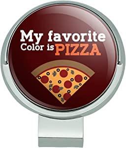 GRAPHICS & MORE My Favorite Color is Pizza Golf Hat Clip with Magnetic Ball Marker
