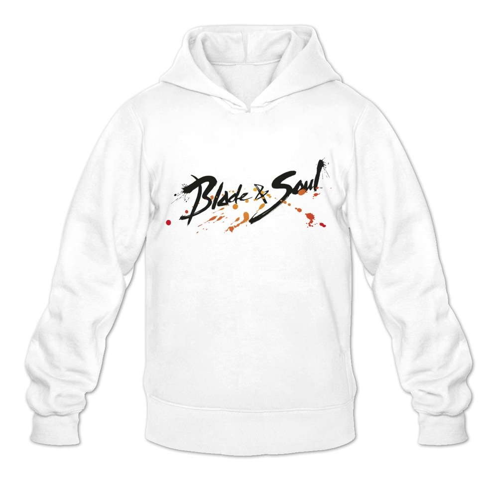 Blade & Soul Cute Casual White Long Sleeve Hoodie For Guys