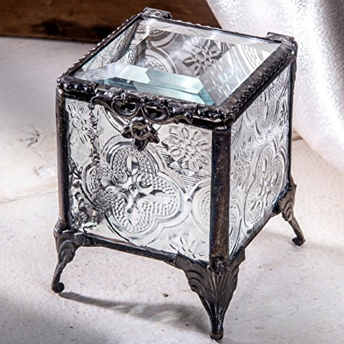 J Devlin Box 153-2 Clear Vintage Glass Trinket Box for Jewelry and Keepsake Chest (Glass Keepsake)