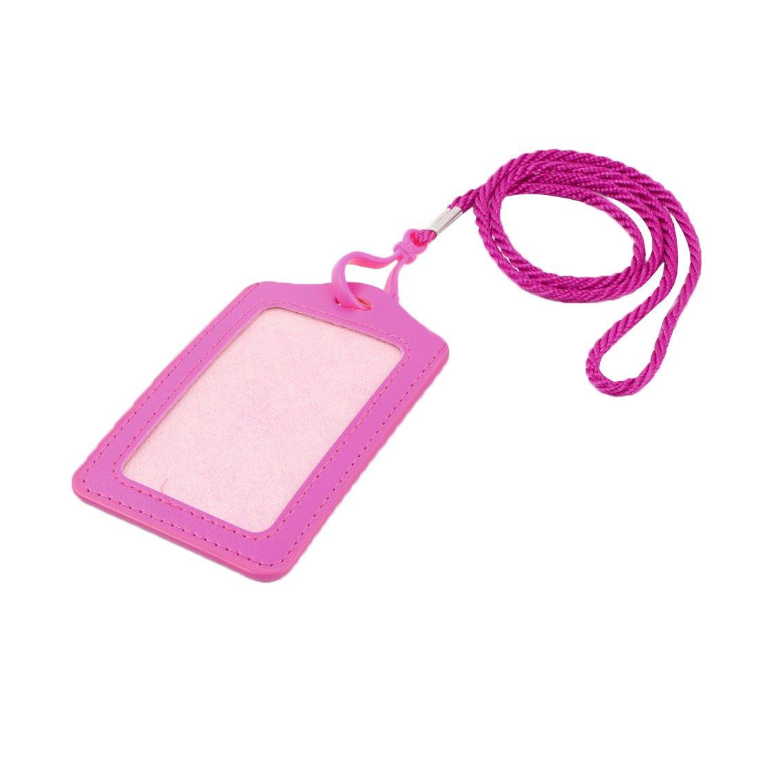 Cordino in Nylon da ufficio, verticale, Badge, colore: rosa SourcingMap a15013000ux0080