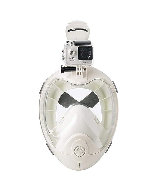 Amazon.com : H2O Ninja X Full Face Snorkel Mask - White ...