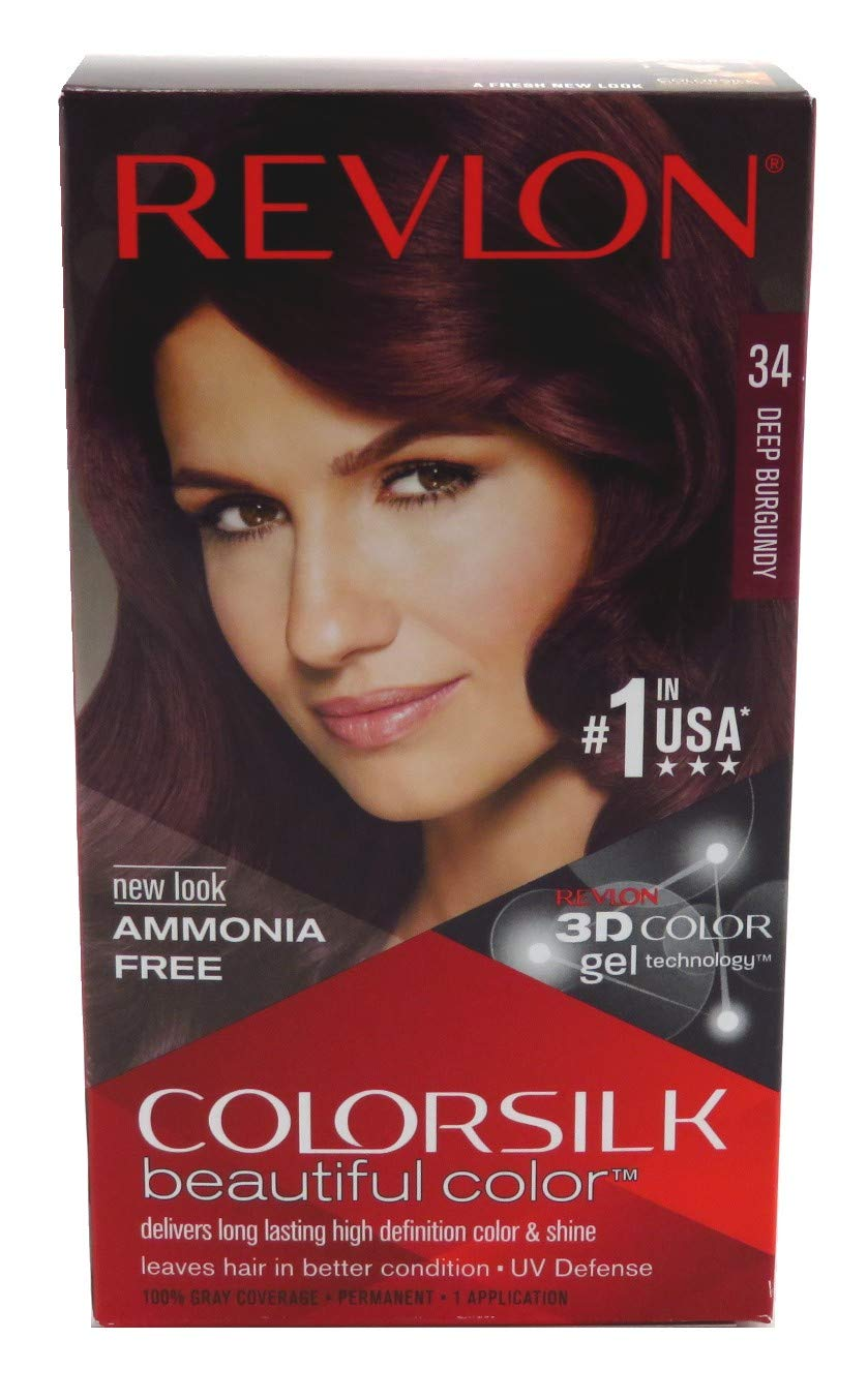 Revlon ColorSilk Hair Color 34 Deep Burgundy 1 Each (Pack of 6)