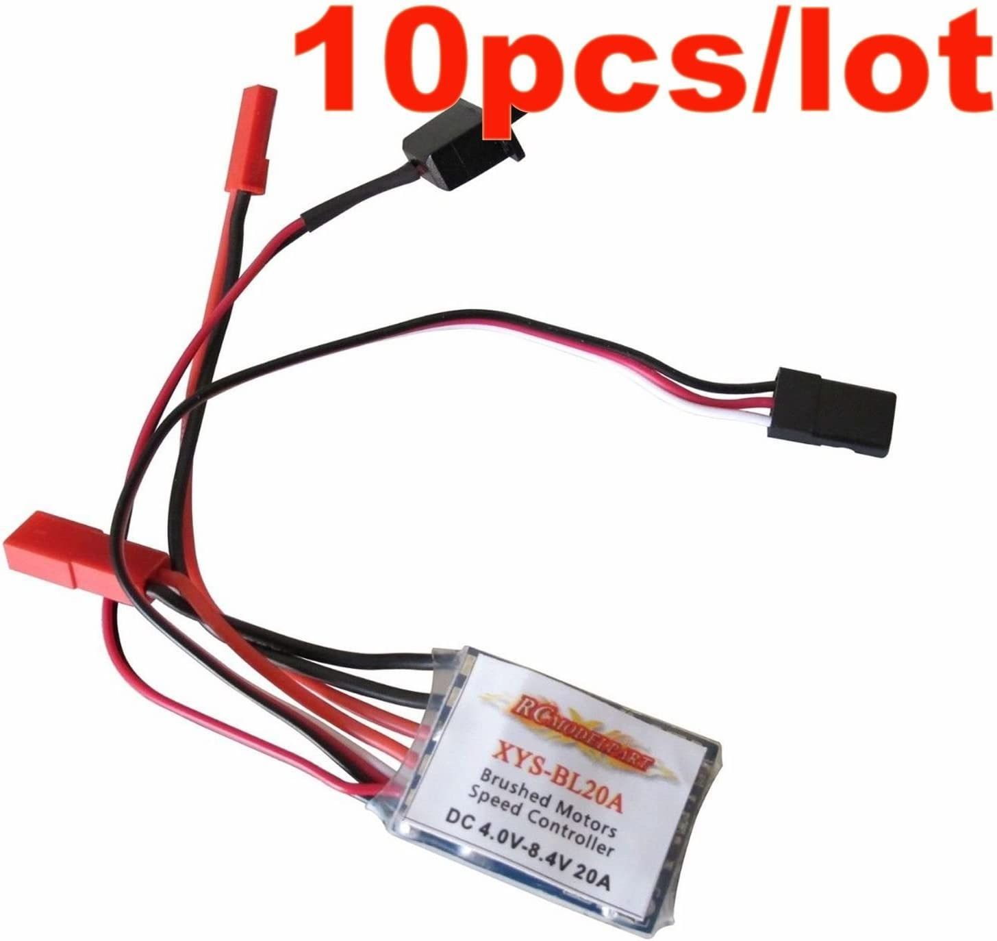 Hobbypower RC ESC 20A Brushed Car Motor Speed Controller 1//16