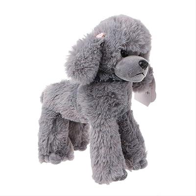 BEST9 Juguetes de Felpa Perros Poodle simulación niños Regalos muñeca rellena Preciosa Bufanda Gris Oscuro, 20 * 25cm: Juguetes y juegos