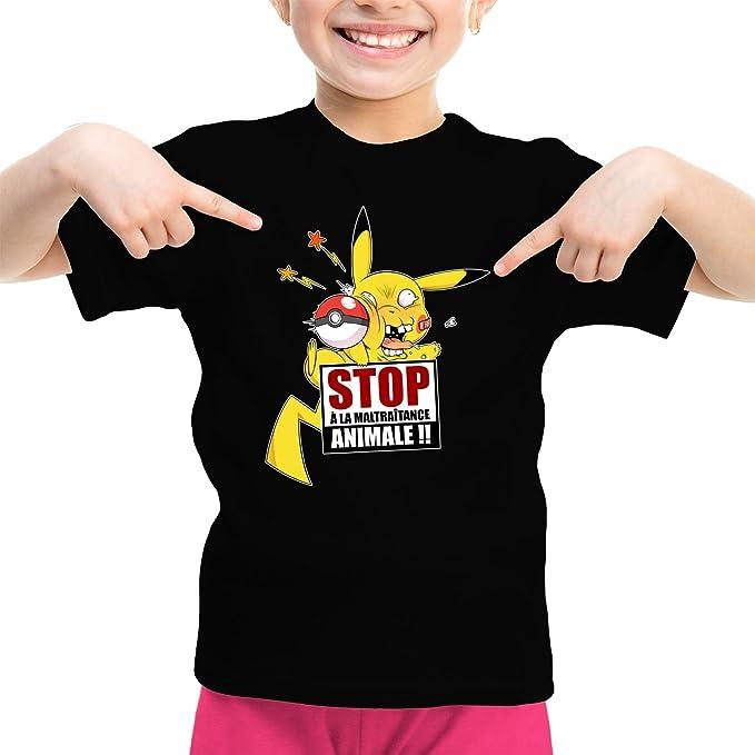 okiWoki Camisetas de Manga Corta Parodia de Pikachu de Pokémon (921)