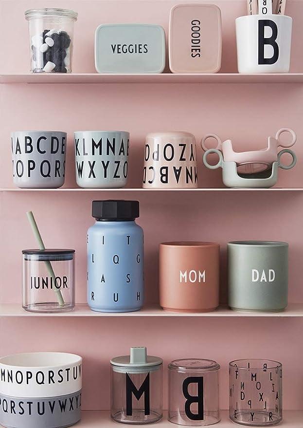 Design Letters Tasse en m/élamine pour Enfant Motif Bonbons Vert /Ø 7 x H 7,3 cm