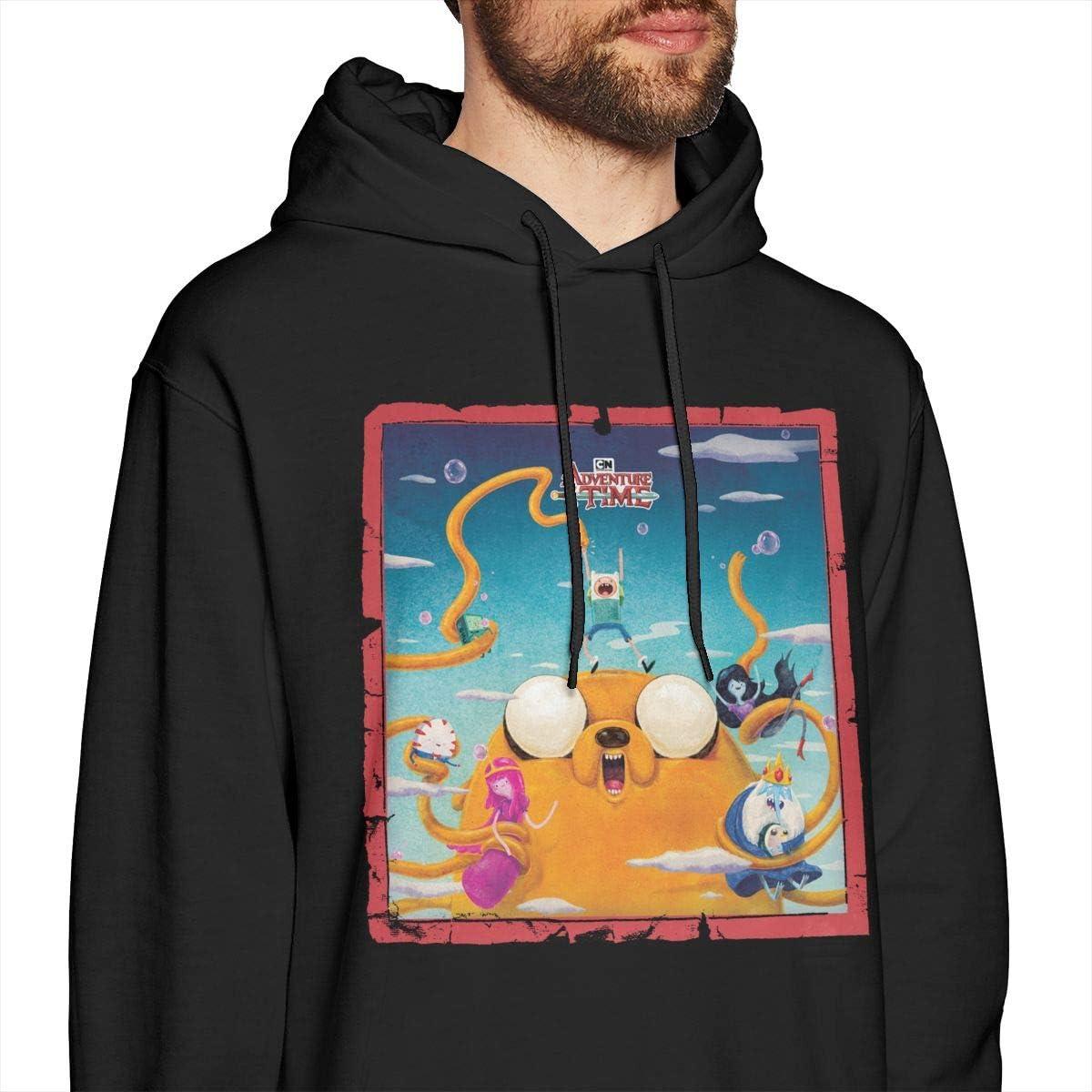Adventure Time Men Leisure Jacket Hoodie Sweatshirt Black
